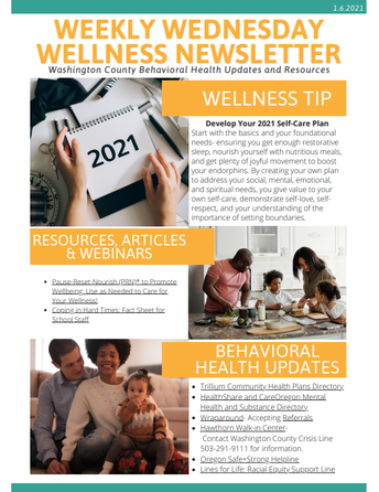 Washington County Wellness Newsletter