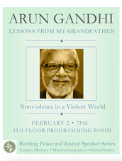 Bunting and Peace Lecture with Arun Ghandi