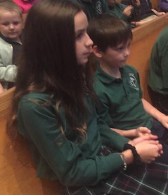 Praying the Rosary with Kindergarten Buddie