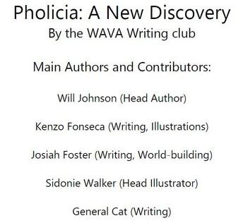 Congrats WAVA Writing Club!
