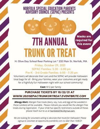 SEPAC 7th Annual Trunk or Treat!