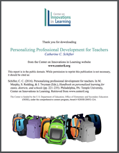 Report:  Personalizing professional development for teachers