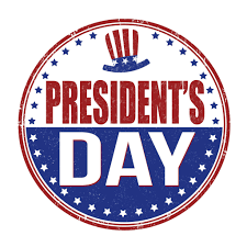 Presidents' Day- NO SCHOOL!