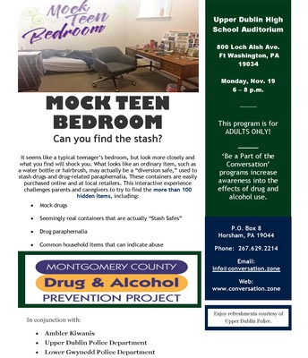 Mock Teen Bedroom