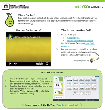 Pear Deck One-Pager
