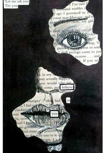 Blackout Poetry is Makerspace STEAM Challenge for February