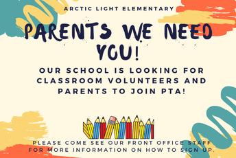 Calling parent Volunteers!