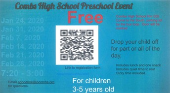 COMBS HIGH SCHOOL PRESCHOOL EVENT