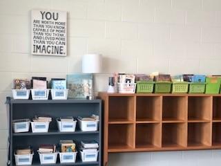 Book Area in 5th grade classroom