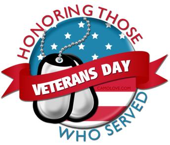 Veteran's Day Holiday- No School