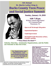 Bucks County Teen Peace and Social Justice Summit