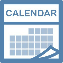 calendar month graphic