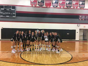 Girls' Volleyball were district runners-up this year in Coach Ebright's first year. The girls had a great season!!
