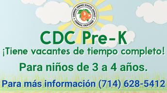 Ya se pueden inscribir al preescolar del Centro de Desarrollo Infantil