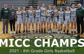 2020-21 8th Grade Girls Basketball - MICC Champs