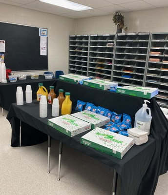 Doughnuts, Coffee, and Juice for the Staff