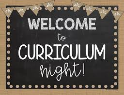 Welcome to Virtual Curriculum Night