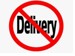 No Food Deliveries