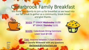 Cedarbrook Family Breakfast