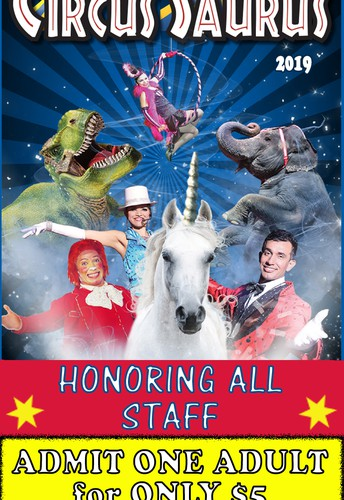 The Carson & Barnes Circus Presents Circus-Saurus will be in town from March 21 to 24.