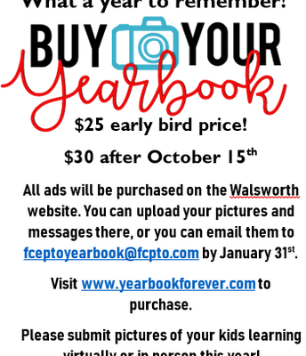 Yearbooks are for sale!