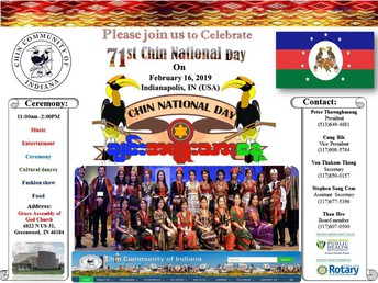 UPDATED Flyer attached!!!!!  You are Invited....to Chin National Day