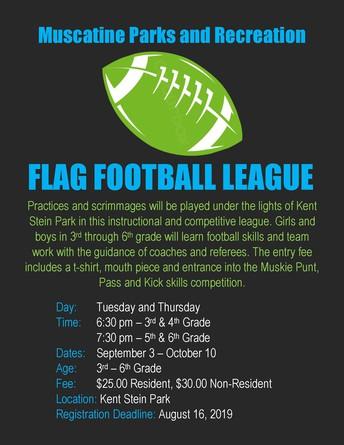 Flag Football League Registration Opens!