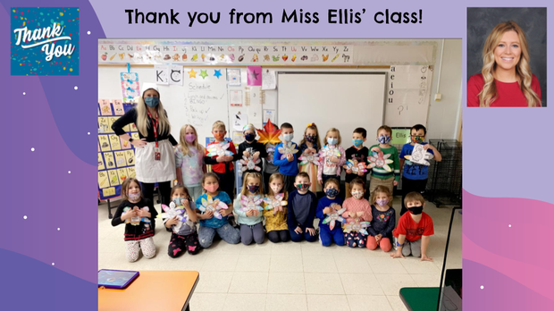 Thank You Slide with Photos - Maple KDG Teacher Miss Ellis and Students