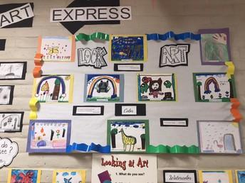 1st/2nd grade Art Gallery Week