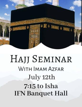 Hajj Seminar by Imam Azfar