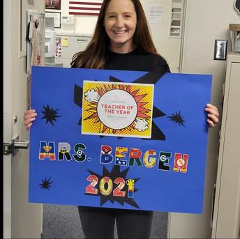 Mrs. Bergen, 2021 Teacher of the Year