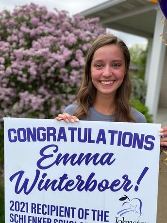 JCSF Awards Emma Winterboer with Schlenker Scholarship