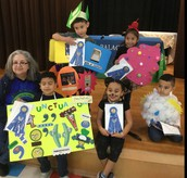 Mrs. Linda Hinojosa, Librarian & Vocabulary Parade Winners