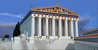 The Parthenon as it might have originally appeared.