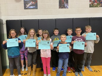 4th Grade All A Honor Roll