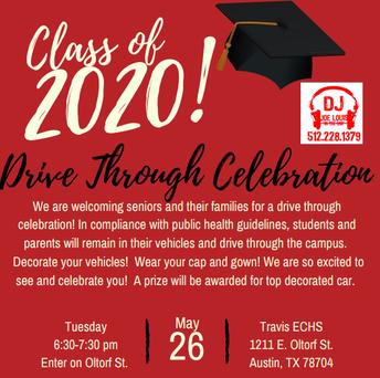 Drive-Thru Celebration - TOMORROW, May 26 @ 6:30pm