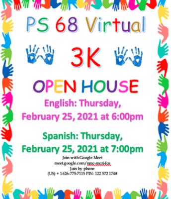 3K Virtual Open House