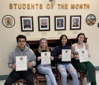 STUDENTS OF THE MONTH - DECEMBER & JANUARY