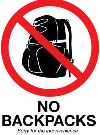 Reminder! Backpacks not allowed at after-school activities!