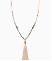 Antonio Tassel Necklace - Blush