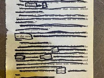 Students Create Blackout Poetry
