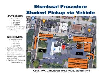 Dismissal Vehicle Pick Up