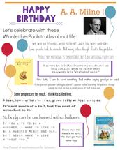 Winnie the Pooh Day - A. A. Milne's Birthday January 18