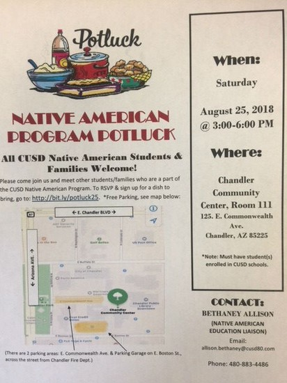 Native American Potluck Flyer