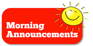Join us for Morning Announcements!
