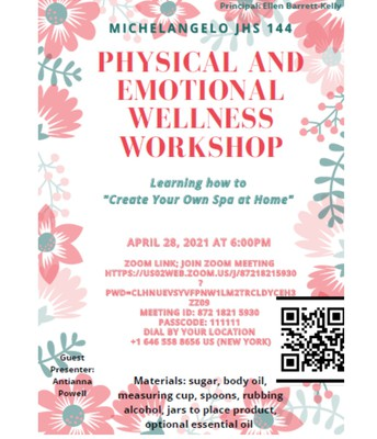District 11 Wed.Family Workshop- Create Your Own Spa!