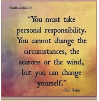Character Trait Focus For February: Responsibility