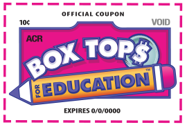 Picture of a label that can be found on food products for Box Tops for Education