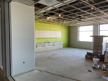 Another classroom view with cabinets!