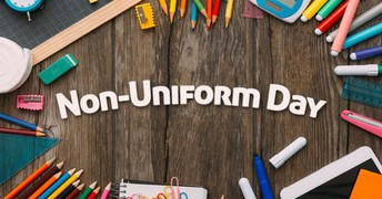 Out of Uniform Day - Spirit Wear (K-5)  Get messy clothing (6-8)